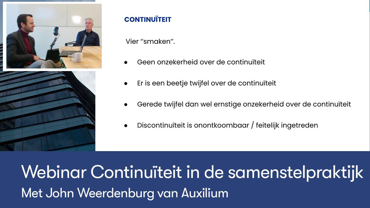 Webinar continuiteit in de samenstelpraktijk