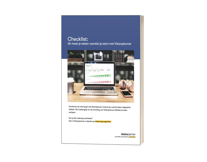 Checklist starten met Visionplanner