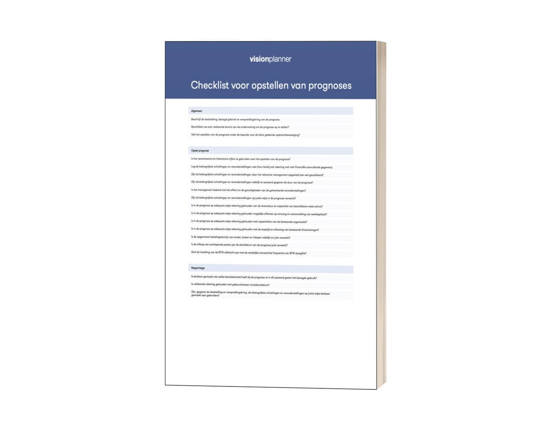Checklist voor opstellen van prognoses