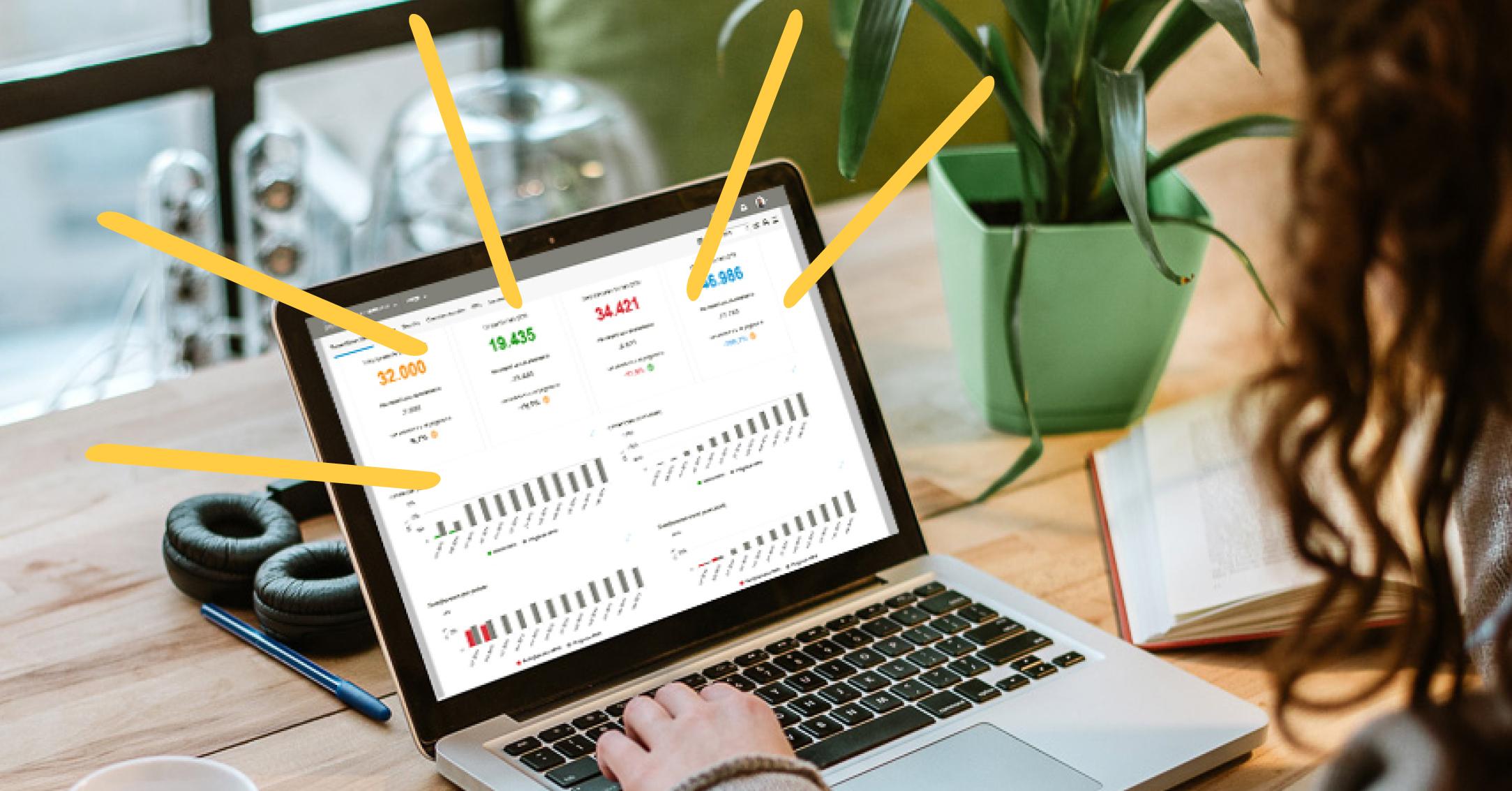 Profit First dashboard in Visionplanner