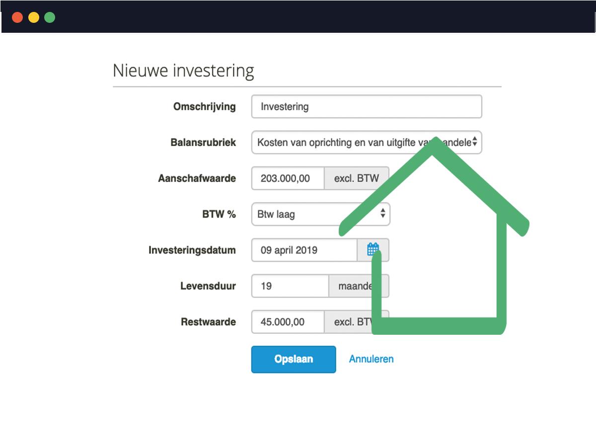 Investeringen en financieringen