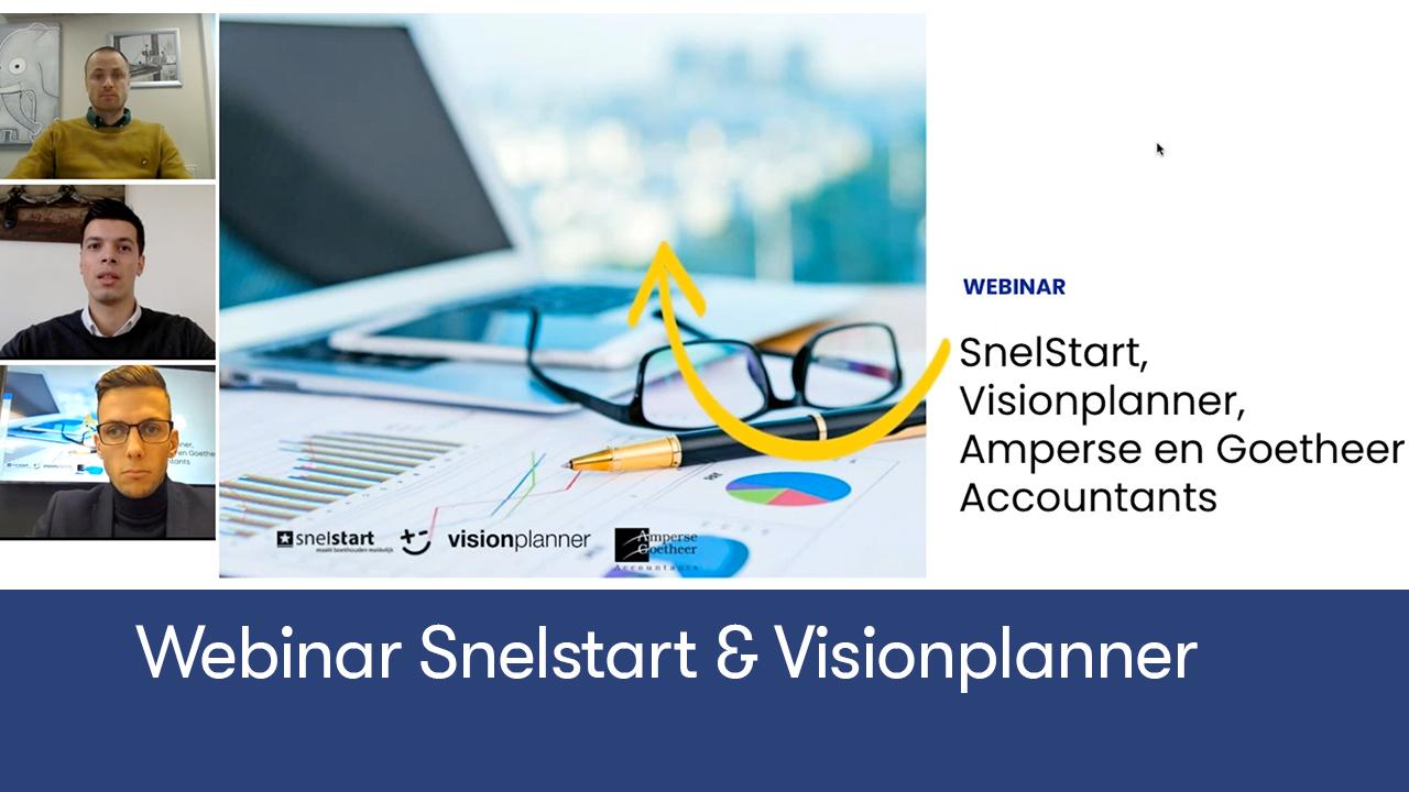 Webinar snelstart & visionplanner